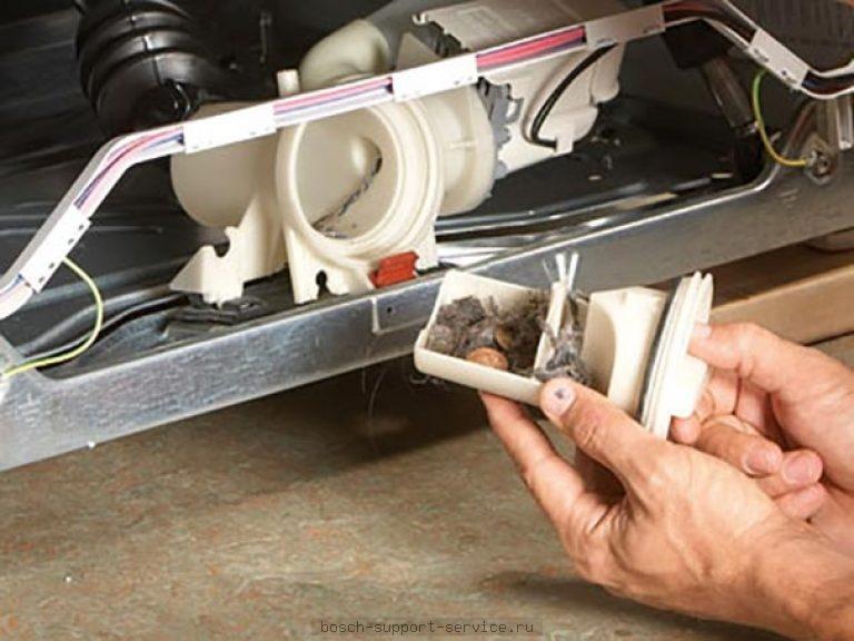 Сливной фильтр Bosch засорен
